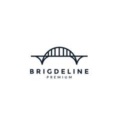 Giant bridge line art outline simple logo icon vector