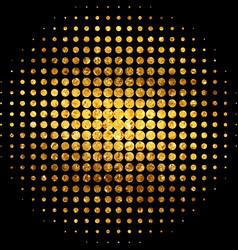 Gold mosaic abstract vector