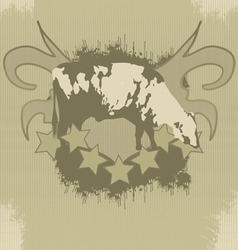 Grunge tshirt effect with cow vector