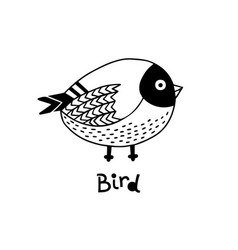 hand drawn isolated element little bird vector image