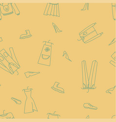 Hand drawn seamless pattern with clothes vector