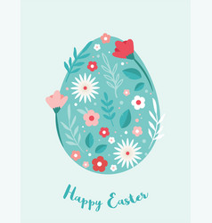 happy easter greeting cards or posters vector image
