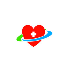 heart clinic logo vector image