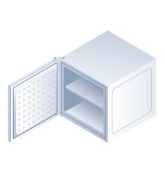 Ice freezer icon isometric style vector