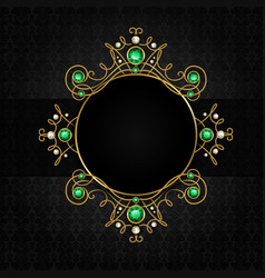 Jewellery black frame vector