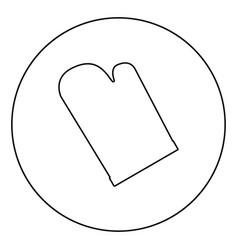 Kitchen glove icon black color in circle vector