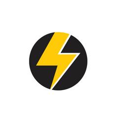 letter s thunder shape geometric logo vector image