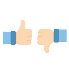 like and dislike icons vector image