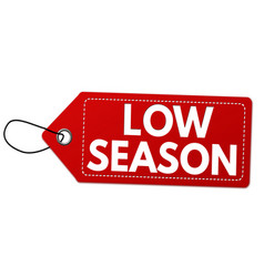 low sales label or price tag vector image