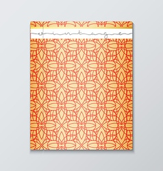 Magazine cover with geometric patterns Cover page vector image
