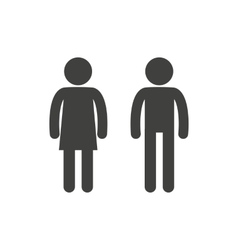 Man and woman pictogram vector image