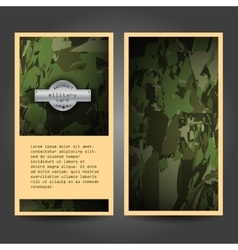 Military stationery template design with vector image