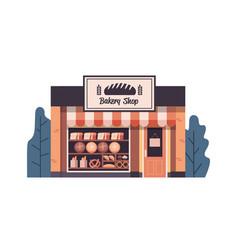 modern bakery shop building facade empty no people vector image