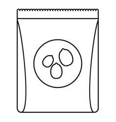 pack nuts icon outline style vector image