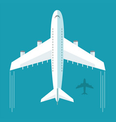plane or airplane in the sky vector image