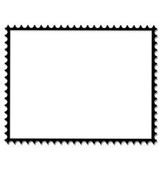 Postage stamp frame vector