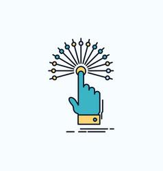 Reach touch destination digital analytic flat vector
