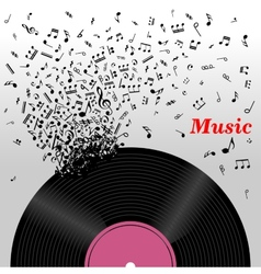 Retro music concept vector image