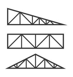 Rometal trusses constructions set on white vector