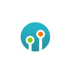 Round technology dot logo vector