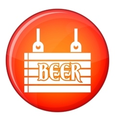 Street signboard of beer icon flat style vector
