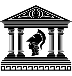 temple of Athena stencil vector image