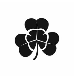 Three leaf clover icon black simple style vector image