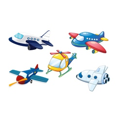 various air planes vector image