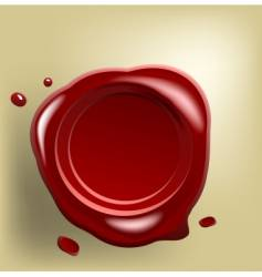 wax seal on paper vector image vector image