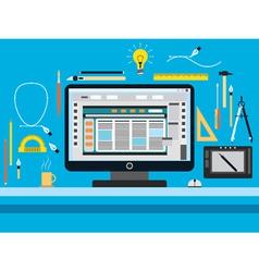 Web design flat concept vector image