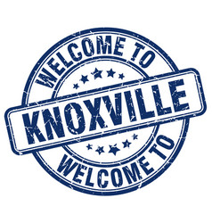welcome to knoxville blue round vintage stamp vector image