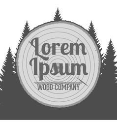 Wood Service Emblem vector