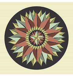 Yoga leaf mandala vector