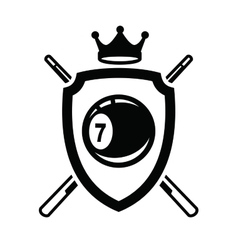 Billiards icon vector image vector image