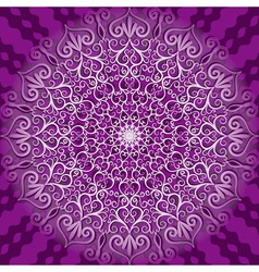 decorative violet pattern vector image vector image