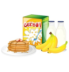 Full breakfast meal vector image vector image