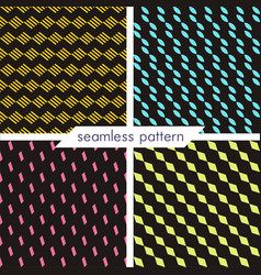 set of four seamless geometrical patterns vector image vector image