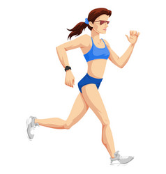 woman running color vector image vector image