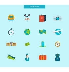 Flat design style modern icons vector image