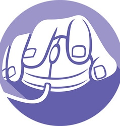 Hand on a Mouse Icon vector image vector image