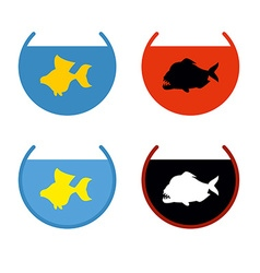 Set of aquarium fish Goldfish in an aquarium Fish vector image