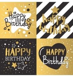 Set of beautiful birthday invitation cards vector image