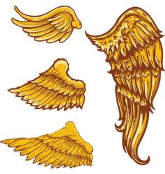 tattoo style wings illustrations colle vector image vector image
