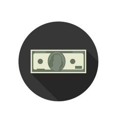 Dollar flat icon vector image vector image