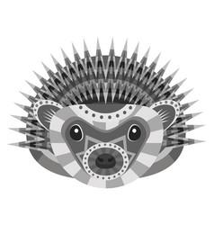 hedgehog head logo decorative emblem vector image