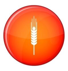 Stalk of ripe barley icon flat style vector