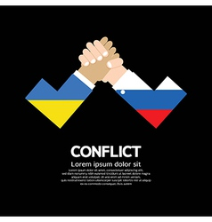 Ukraine vs russia arm-wrestle vector