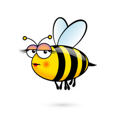 a friendly cute female bee with expression on vector image vector image