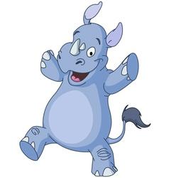 dancing rhino vector image vector image
