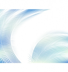 feathered background vector image